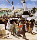 Manet Edouard Departure of ship to Folkstone Sun