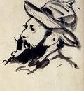 Manet Edouard Head Of A Man Claude Monet