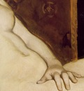 Manet Olympia, 1863, 130 5x190 cm, Detalj Musee dOrsay, P
