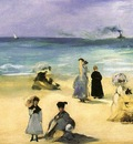 Manet On the Beach at Boulogne, Virginia Museum of Fine Arts