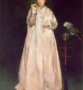 Manet Woman with parrot, 1866, 185 1x128 6 cm, Metropolitan
