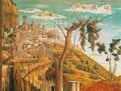 Mantegna 022 Christ on the Mount of Olives 3 1460 detail