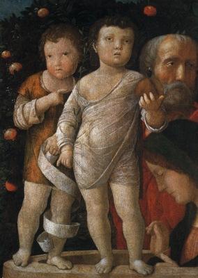 Mantegna Andrea The holy family with St John