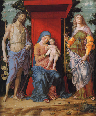 Mantegna Andrea Virgin and child with the Magdalen and St John the Baptist