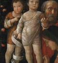 Mantegna Andrea The holy family with St John