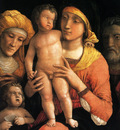 Mantegna Andrea The holy family with saints Elizabeth and the infant John the Baptist