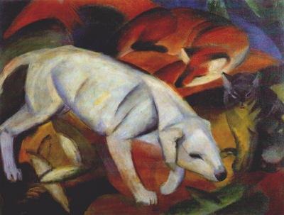 marc three animals dog fox cat