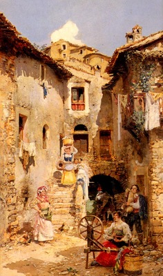Marco Vicente March y A Roman Courtyard In Summer
