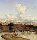 Marilhat Georges Eastern landscape Sun