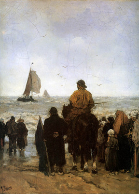 Maris Jacob Arrival of the boats Sun