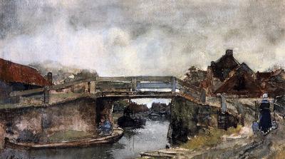 Maris Willem Bridge over the Buitensingel Sun