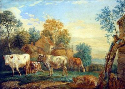 Maris Willem Cattle in the meadow Sun