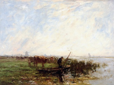 Maris Willem Landscape with cows Sun