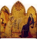 Martini The angel and the anunciation, 1333, Tempera on pane