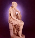 Masini Girolamo A Large Marble Seated Figure Of Ruth