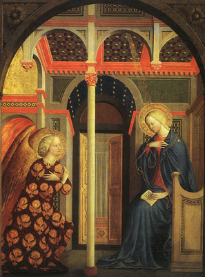 Masolino Annunciation, approx  1435 40, National Gallery of