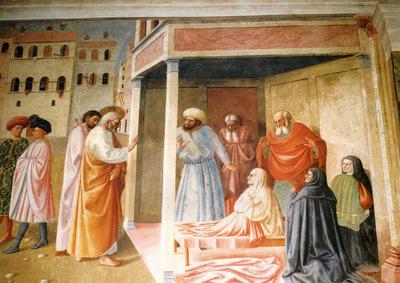 Masolino Tommaso The Resurrection Of Tabatha