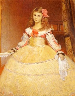 Matsch Franz von A Portrait Of The Artists Daughter As Infanta After Velasquez