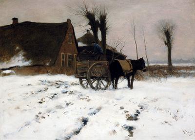 Mauve Anton At the farm in the winter Sun