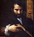 Mazzola Girolamo Francesco Maria Portrait Of A Man With A Book