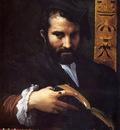 Mazzola Girolamo Francesco Maria Portrait Of A Man With A Book