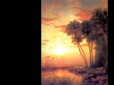sunset on st johns river george mccord 1878 fl art csg001