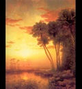 fl art001 sunset on st johns river george mccord