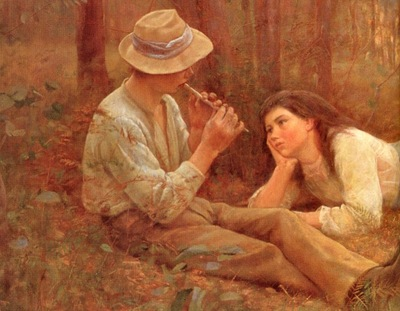 McCubbin, Frederick The Flute Player detail end