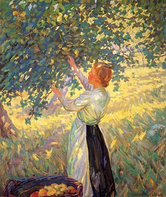 McNicoll, Helen Galloway The Apple Gatherer end