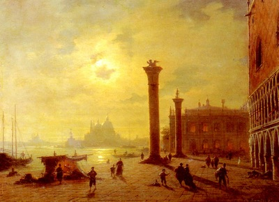 Mecklenburg Ludwig The Piazetta Venice