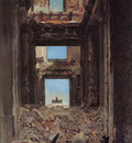 meissonier the ruins of the tuileries palace after the commune of