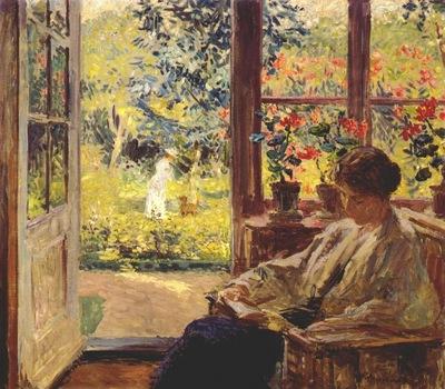 melchers woman reading by a window c1905