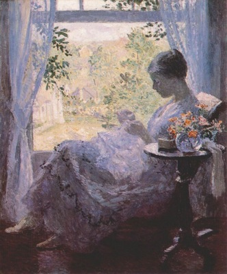 melchers young woman sewing c1923