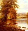 Mellor William Bolton Abbey From The Wharfe Yorkshire