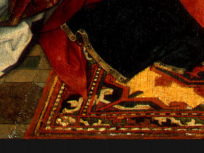 MEMLING MADONNA AND CHILD WITH ANGELS,DETALJ 11, NGW