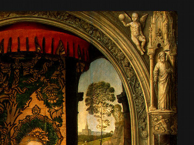 MEMLING MADONNA AND CHILD WITH ANGELS,DETALJ2, NGW