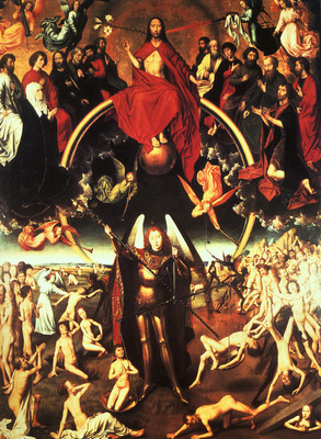 MEMLING THE LAST JUDGEMENT, 1480, WOOD, MEMLING MUSEUM AT BR