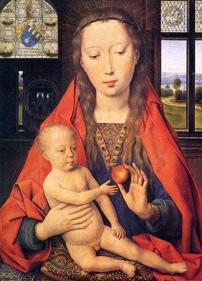 Memlings Hans Holy virgin and child Sun