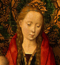 MEMLING MADONNA AND CHILD WITH ANGELS,DETALJ 7, NGW