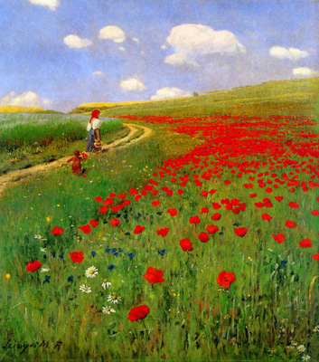 Merse Pl Szinyei Meadow with poppies Sun
