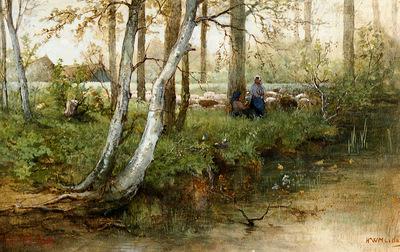Mesdag Hendrik Landscape in Drenthe Sun