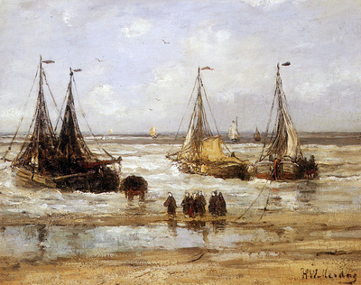 Mesdag Hendrik Willem Arrival Of The Fleet Sun