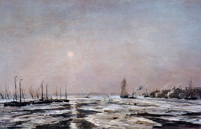 Mesdag Hendrik Willem Ice On The River Sun