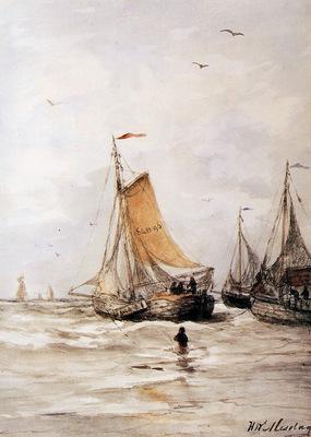 Mesdag Hendrik Willem Pinks For Anchor Sun