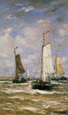Mesdag Hendrik Willem Return Of The Fleet Sun