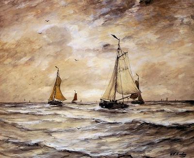 Mesdag Hendrik Willem Scheveningen Sun
