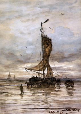 Mesdag Hendrik Willem Ship Sun