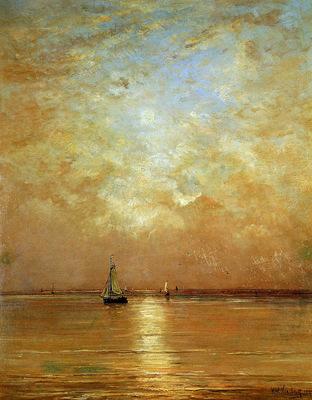 Mesdag Hendrik Willem Sunset At Scheveningen Sun