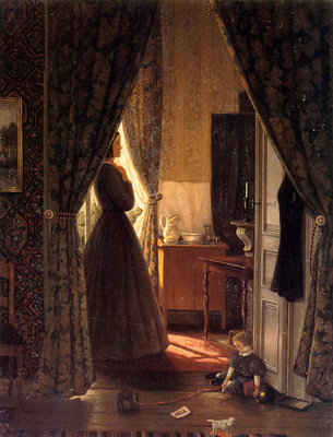 Mesdag Hendrik Willem Woman In Interior Sun