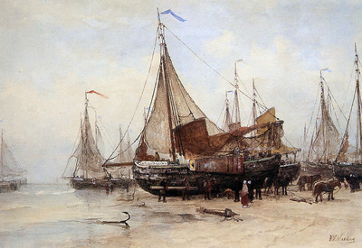 Mesdag Hendrik Willem Work At The Beach Sun